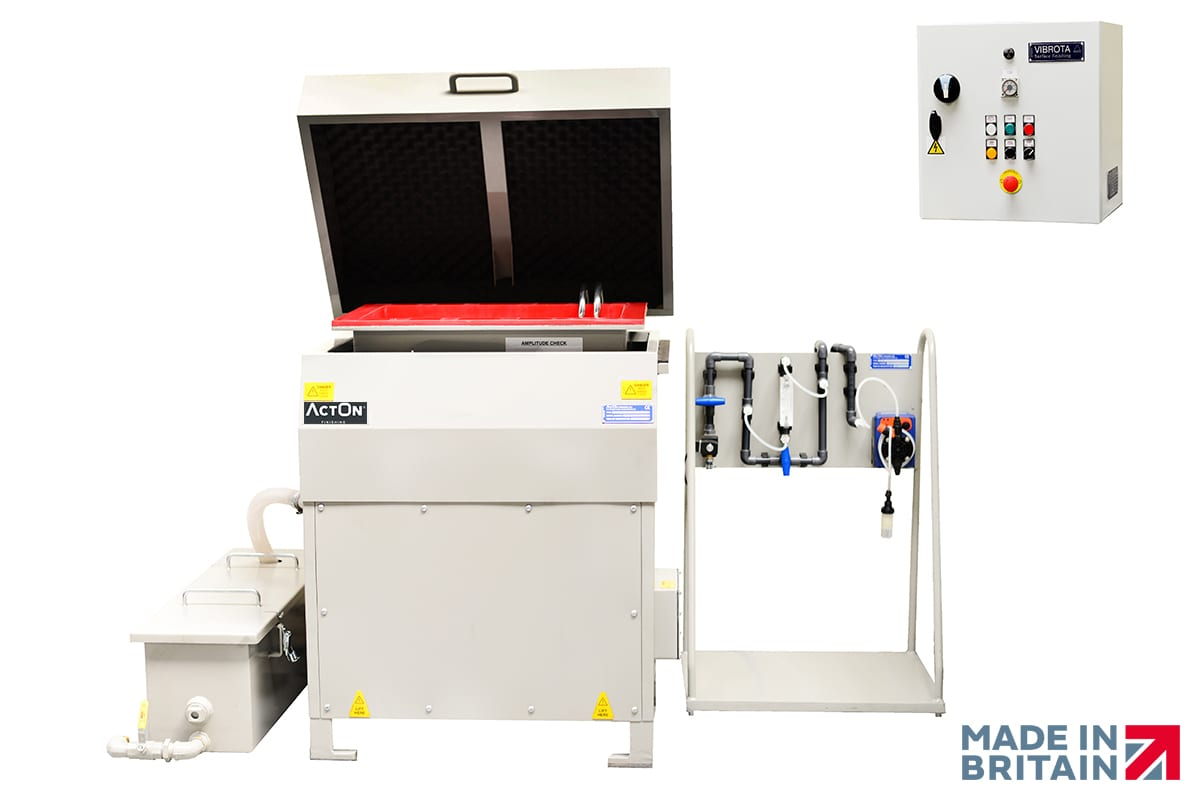 Explore our Versatile, Ergonomic & High-Quality Vibro Machine Troughs at ActOn Finishing.