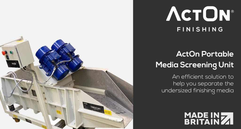 Separate undersized finishing media with the ActOn Portable Finishing Media Screening Unit. Find out more today.