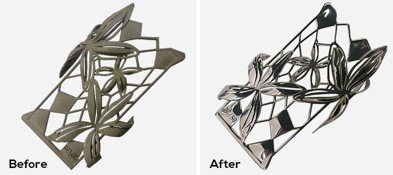 3D printed decorative part