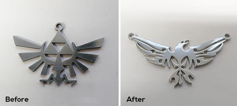 mirror polishing stainless steel jewellery