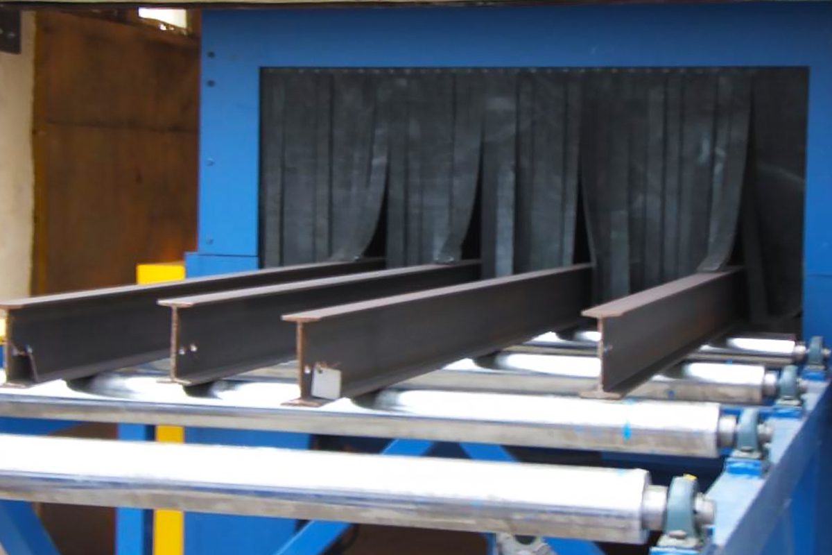 Roller Conveyor Blast Machine from ActOn Finishing, perfect for continuous feed process.