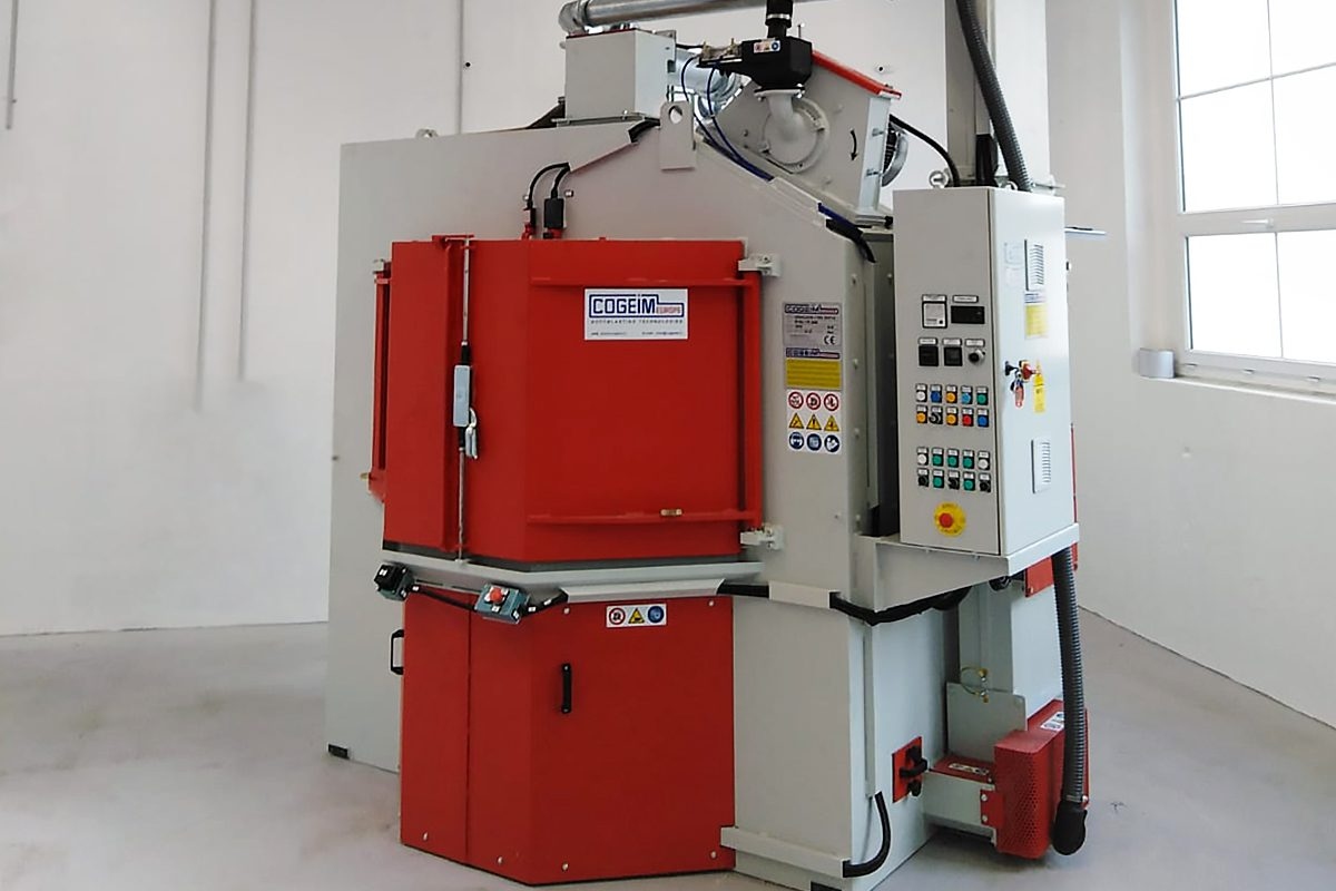 Rotary Table Shot Blasting Machine from ActOn Finishing, perfect for small and medium size parts.