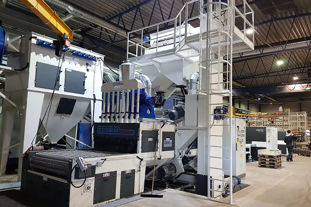 Wire Mesh Belt Shot Blasting Machine from ActOn Finishing for continuous shot blasting processes.